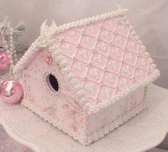 Shabby Roses Gingerbread House