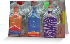 "~ Please click image to enlarge ~ / Craft vendor at a local fair, ""Country in the Park"". Buy a bottle and make your own art to take home by filling it with colored sand (provided on the adjacent table)… / Location: Pinellas Park, Florida / If you like Sand art bottles, you may also enjoy Sand art flasks… / Nikon D7000, Nikkor 70-300 mm at 240 mm / 1/50 sec, F5.6, ISO 4000 / © Ben Waggoner, All Rights Reserved. • Buy this artwork on home decor, stationery, bags y more."