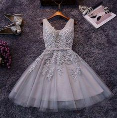 The new party dress short bridesmaid dress skirt bra grey skirt dress female…