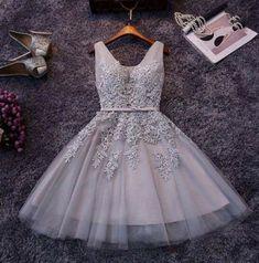 The new party dress short bridesmaid dress skirt bra grey skirt dress female…