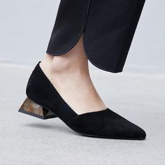 Chiko Edelburga Sculptural Heel Pumps feature pointy toe, easy slip on and off, sculptured block heels with rubber sole. Pakistani Fashion Casual, Pakistani Dresses Casual, Fashion Pants, Fashion Shoes, Sleeves Designs For Dresses, Studded Heels, Pumps Heels, High Heels, At Least