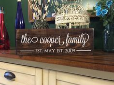 Personalized Family Name Sign  Last Name Sign  by RepurposedShine