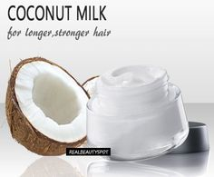 Coconut milk is a pure form of milk extracted from a grated coconut. Due to its creamy and rich consistency this extracted liquid can be used as a milk substitute. Coconut milk is very rich in Vita… Coconut Milk For Hair, Natural Coconut Oil, Coconut Oil Hair Mask, Coconut Oil Uses, Coconut Oil For Skin, Coconut Water, Coconut Milk Benefits, Oil For Curly Hair, Coconut Oil Hair Treatment