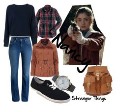 Stranger Things-Nancy by kymmieblogs on Polyvore featuring T By Alexander Wang, J.Crew, Henri Lloyd and NLY Accessories