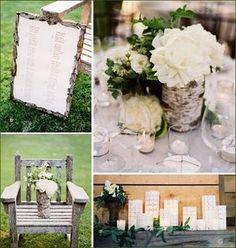 Natural wedding bark style rustic woodland style