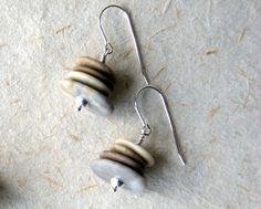 Cairn Earrings beach stone earrings Beach by WearYourWild