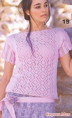 Розовая кофточка красивым ажуром из сети - Вязание - Страна Мам