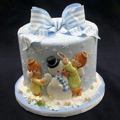 Angels & Snowman cake