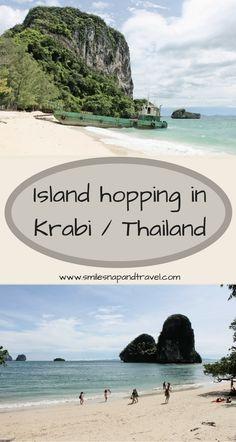 Island hopping im Westen Thailands in der Provinz Krabi. Dort findest du Traumstrände.