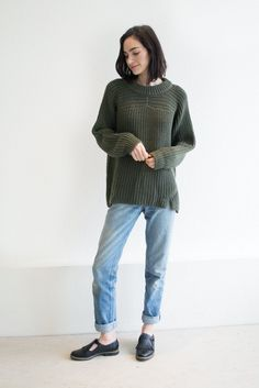 Michaela Greg // Olive Arch Sweater