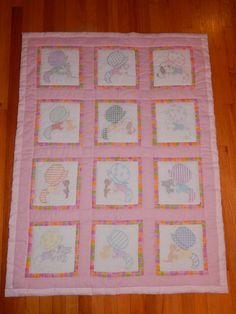 Little Bonnet Girl Handmade Baby Quilt by CraftingByTheWayside $85.00 #craftshout0211