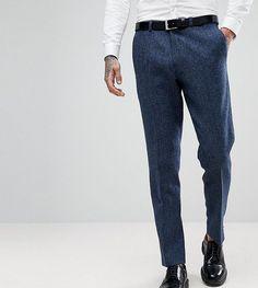 Heart & Dagger Woven In England Slim Stretch Suit Pants In Herringbone