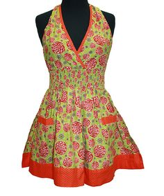 Take a look at this Twilight Rose Bella Halter Apron - Women on zulily today!