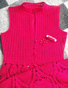 Crochê Tricô - Gráficos: Vestido Lindíssimo em Crochê. ou Knitting Crochet - Graphics: Lindíssimo Dress Crochet.