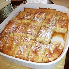 French Toast Bake  Oh how I miss f toast!