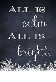 All is calm, all is bright by ChrisB.