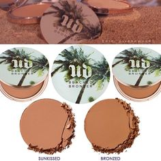 Includes: #BeachedBronzer a smooth Powder, In 2 Matte Shades Sun-Kissed – light-medium  Bronzed – medium-dark  Will be available around March - Apri