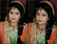 Makeup by Naila tausif Party Makeup, Most Beautiful, Sari, Crown, Bride, Wedding Dresses, Women, Fashion, Saree