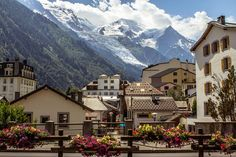 Chamonix, France is a winter honeymoon wonderland. | See more honeymoon destinations in France here: http://www.mywedding.com/articles/beyond-paris-7-must-see-cities-in-france/