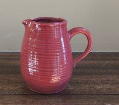 Vintage Red Creamer / Pottery Creamer / by LeBrunDesignsInc