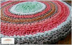 Crochet: Seguimos tejiendo alfombras de trapillo   Decoración
