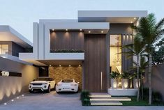 Architecture House Front Top 33 modern house designs ever built you must see 33 Modern Exterior House Designs, Modern House Facades, Dream House Exterior, Modern Architecture House, Modern House Plans, Modern House Design, Architecture Design, Exterior Design, Small Modern Houses