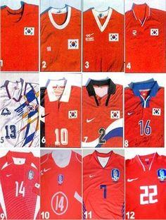 대한민국 축구 국가대표 역대 유니폼