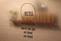 Ecru #Coffee #Signage #copper