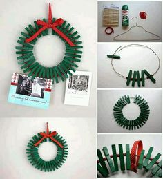 Clothes pin wreath: