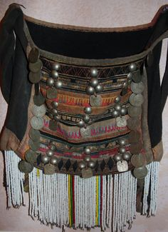 417. Large Vintage Akha Purse from Northern Thailand ca 1950's-60's