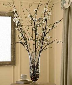 Quince Blossoms In Vase