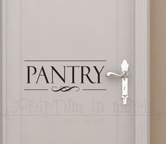 Hey, I found this really awesome Etsy listing at https://www.etsy.com/listing/157356671/pantry-door-kitchen-vinyl-decal