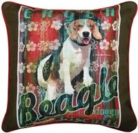 Dog Crossing Beagle Pillow