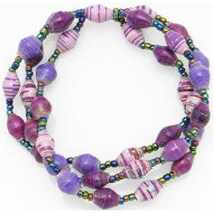 3-strand bracelet - shades of purple
