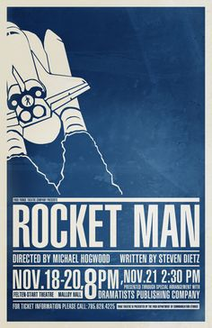 Rocket Man poster design