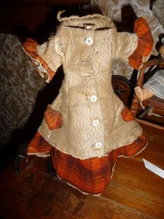 Charming antique doll dress for small poupee fashion or china