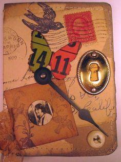 nice Book Journal, Art Journals, Altered Books, Altered Art, Alters, Steam Punk, Collage Art, Ephemera, Folk Art