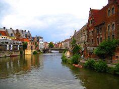buildings in Ghent, Belgium by Syarif Budhiman