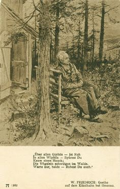 Memory Green  /  Emlékvirágzás: Goethe: Wanderers Nachtlied