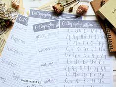 Kalligráfia szett kezdőknek (4 db sablon) - Oszlánszki ART Calligraphy Tutorial, How To Write Calligraphy, Templates, Writing, Art, Art Background, Stencils, Kunst, Western Food