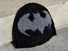 Grandma Swills' Handcrafted Knits: Handmade Knitted Adult Batman Hat