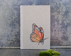 Lily of the Valley. Embroidered A6 Notebook. by FabulousCatPapers