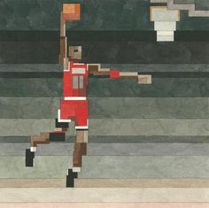 Adam Lister's Pixelated Watercolor Art