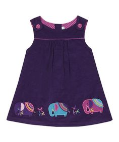 Loving this Mulberry Elephant Corduroy Jumper - Infant, Toddler & Girls on #zulily! #zulilyfinds