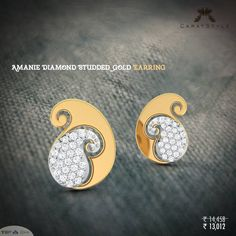 It's time to rewrite your story! #earring #gold #diamond #paisley #studs #mankolam #earringsonline