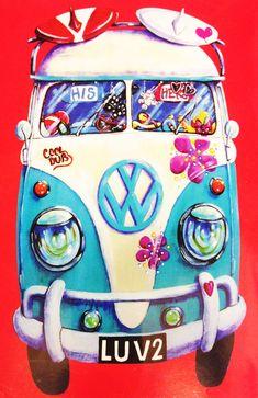 Campervan Gift - VW Campervan Love Fleece Throw Blanket, £24.95 (http://www.campervangift.co.uk/vw-campervan-love-fleece-throw-blanket/) #kombilove