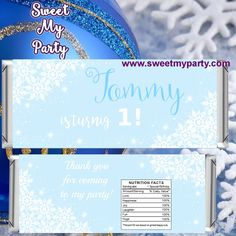 Winter ONEderland Candy Bar Wrappers,Winter Candy Bar Wrappers, (7)