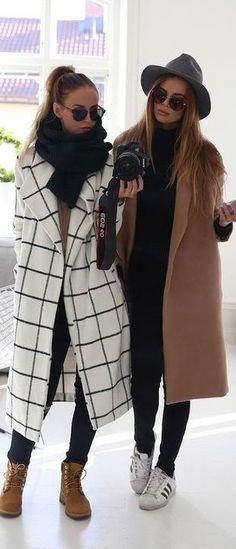 #winter #fashion / coat + coat