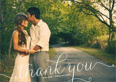 Swirl Wedding Thank You Card