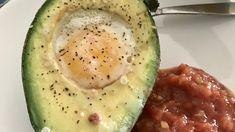 Paleo Baked Eggs in Avocado Recipe | Allrecipes Fresh Avocado, Avocado Egg, Baked Eggs, Avocado Recipes, Paleo Breakfast, Poached Eggs, Bacon, Healthy Eating